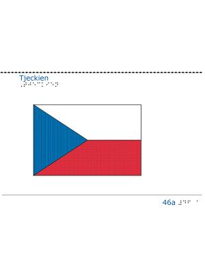 Taktil bild Tjeckiens flagga.