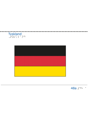 Taktil bild Tysklands flagga.