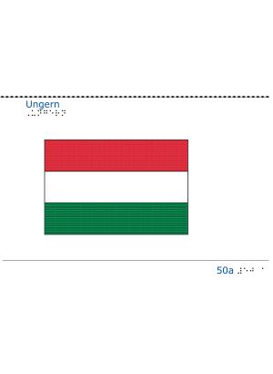 Taktil bild Ungerns flagga.