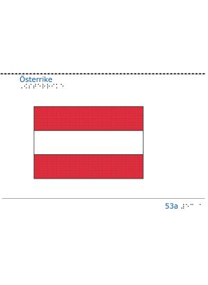 Taktil bild Österrikes flagga.