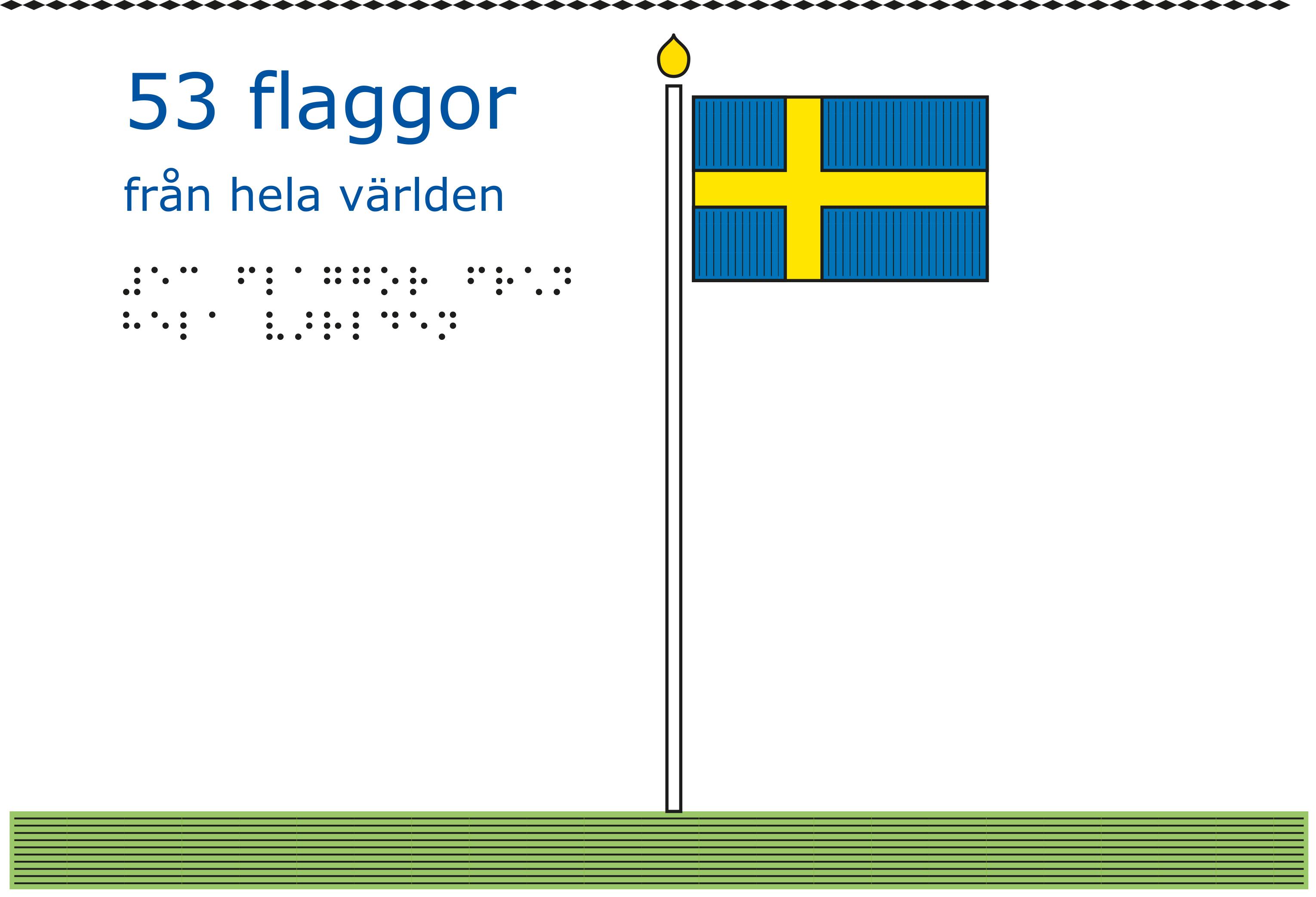 Flagga uppsatt i en flaggstång.