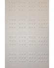 Plastark med brailleceller.