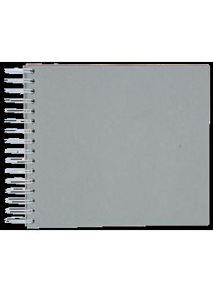 Spiralbunden kartong med 7 sidor.