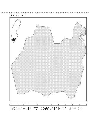 Reliefkarta av Småland.
