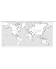 Världskarta i relief.