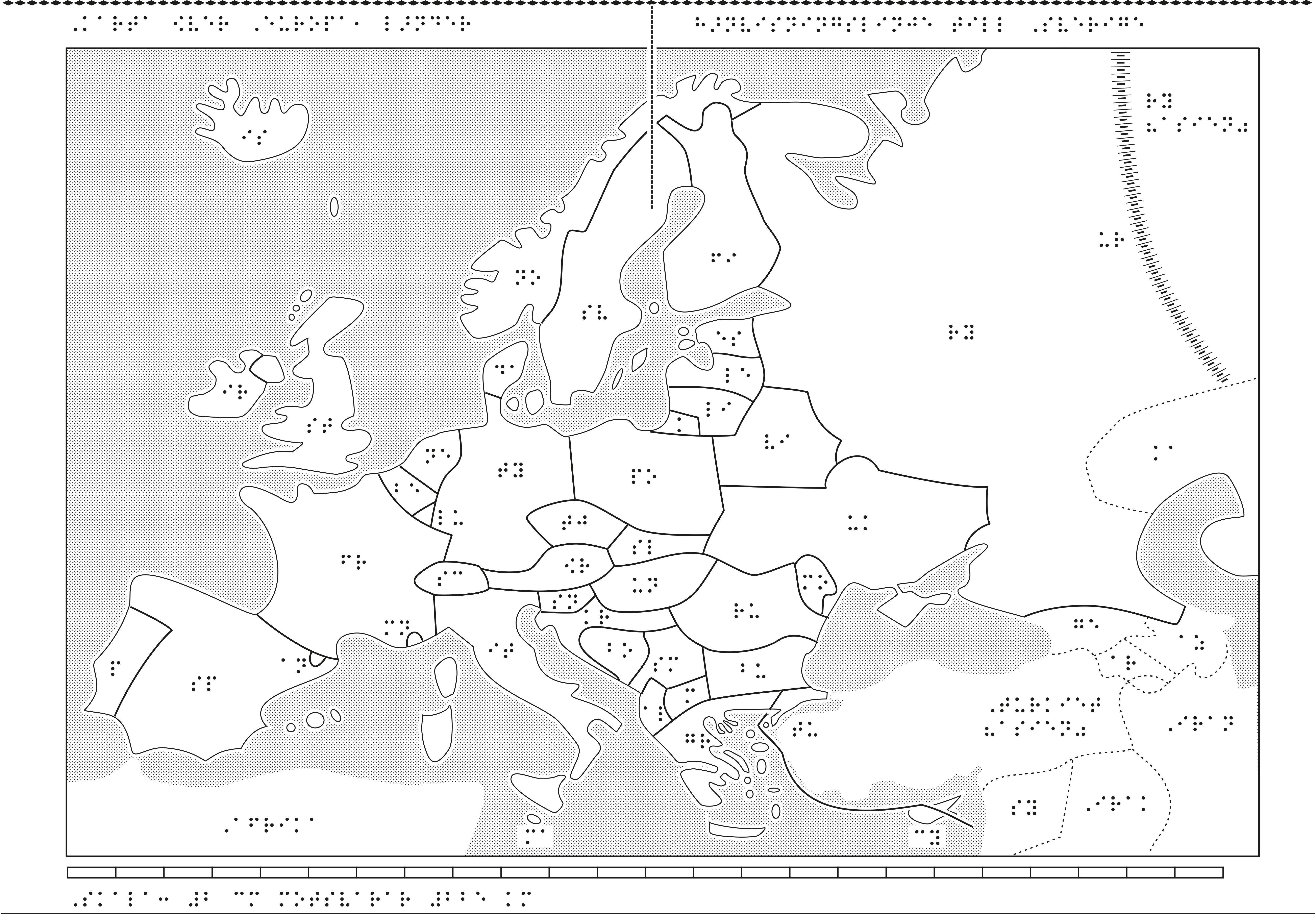 Europakarta i relief.