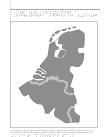 Karta av Belgien, Nederländerna, och Luxemburg i relief med tillhörande punktskrift.