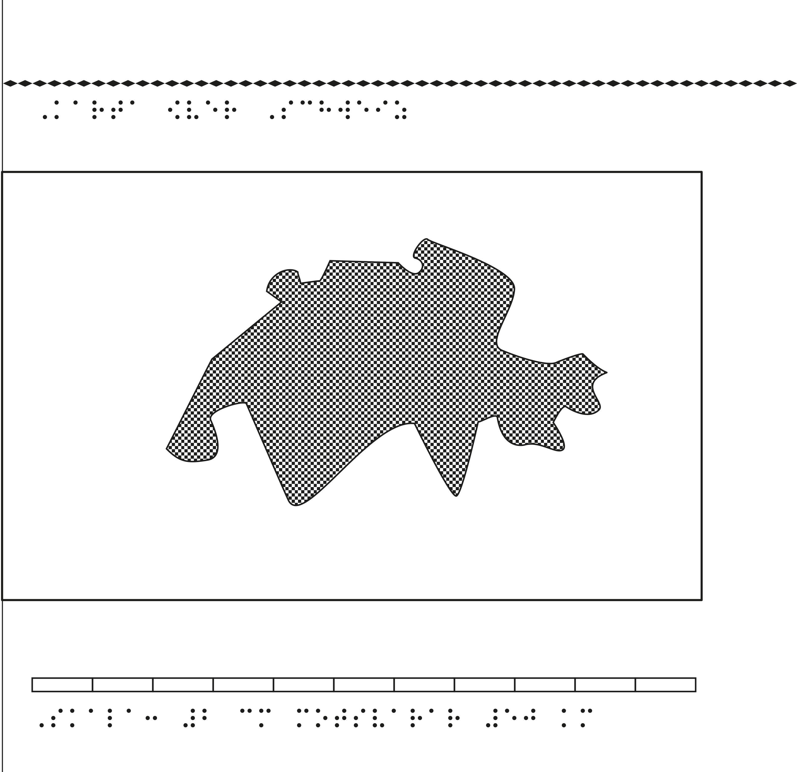 Karta över Schweiz i relief med tillhörande punktskrift.