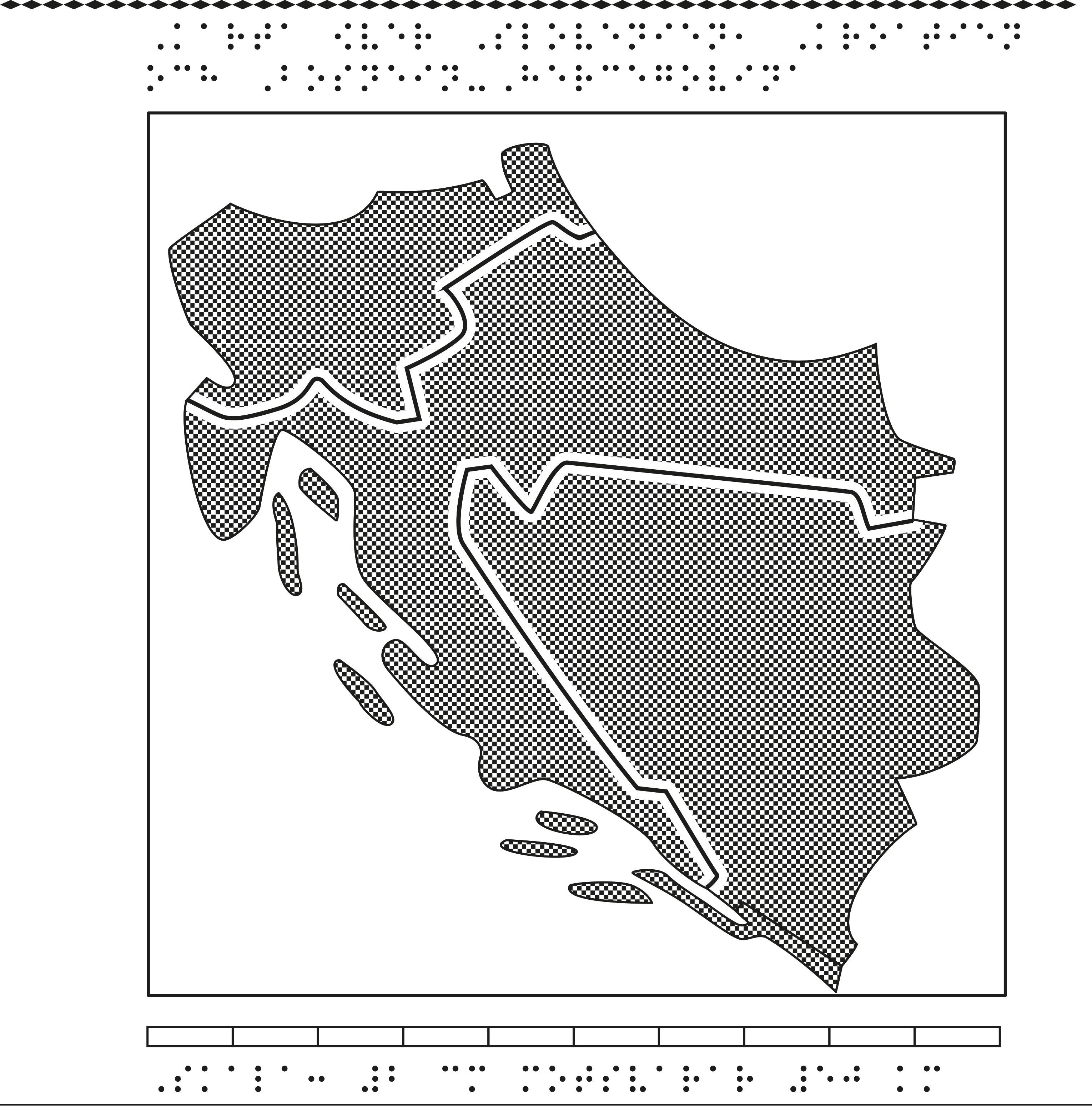 Karta över Slovenien, Kroatien och Bosnien-Hercegovina