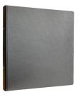 En svart pärm för svällpapperskartor.