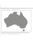 Karta av Australien i relief med tillhörande punktskrift.
