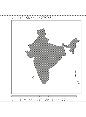 Relief karta över Indien.