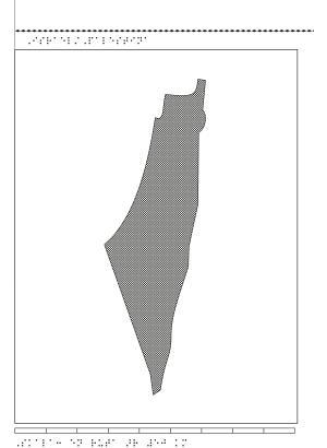 Relief karta över Israel.