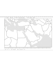 Relief karta över mellanöstern.