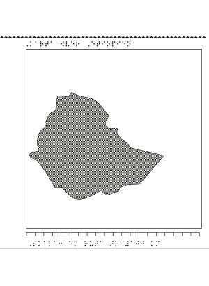 Karta över Etiopien.