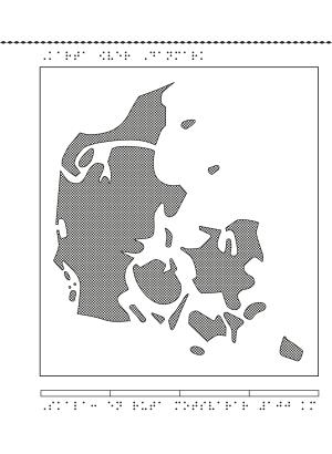 Karta över Danmark.