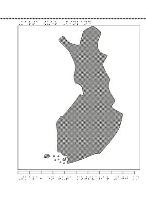 Karta över Finland.