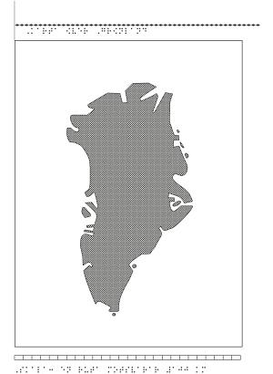Karta över Grönland.