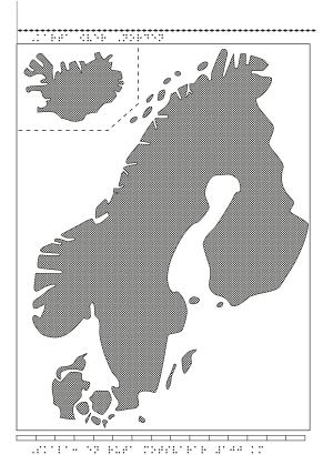Karta över Norden.