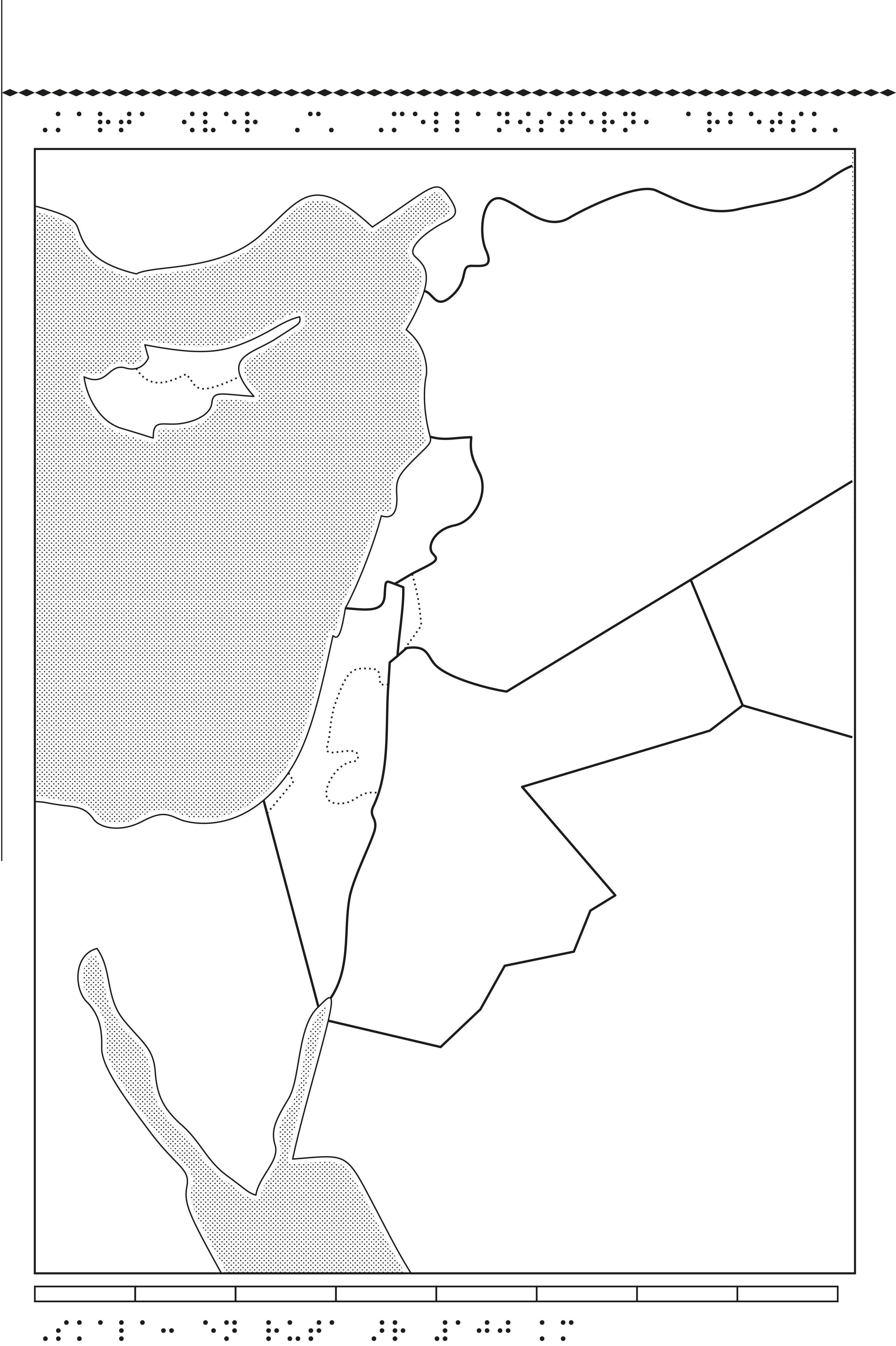 Karta över Centrala Mellanöstern.