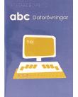 Omslag abc Datorövningar, blå bakgrund med en dator i förgrunden.