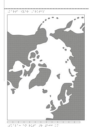 En karta över Arktis.