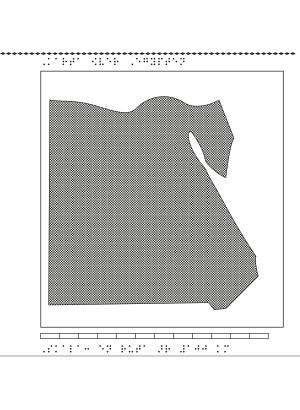 Karta över Egypten.