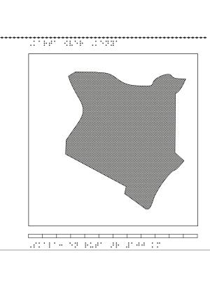 Karta över Kenya.