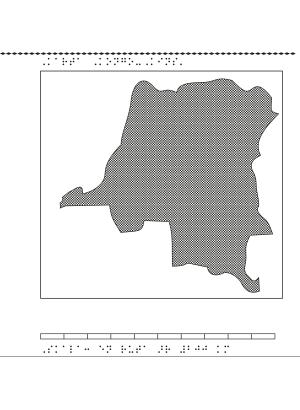 Karta över Kongo, Kinshasa.