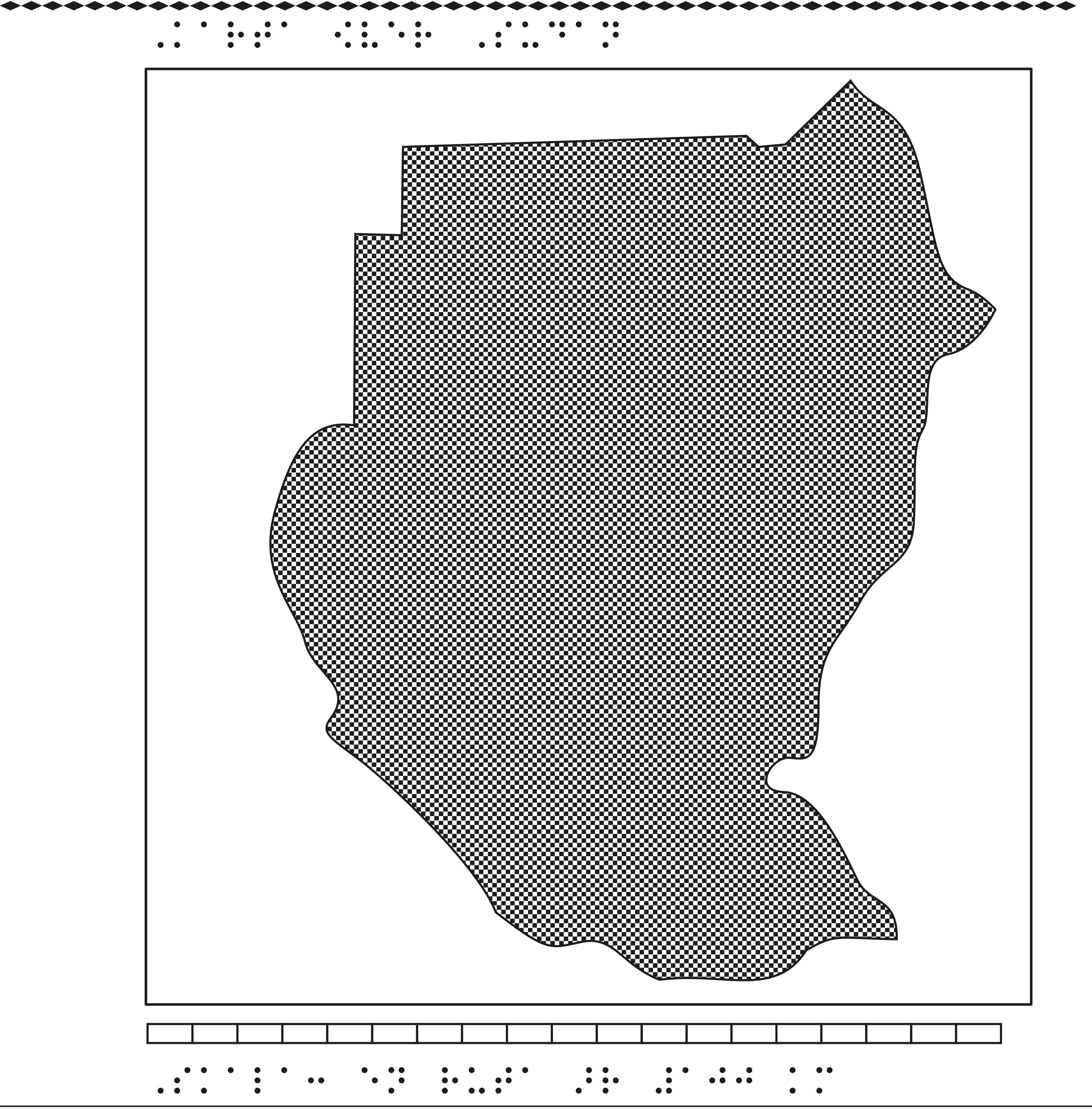 Karta över Sudan.