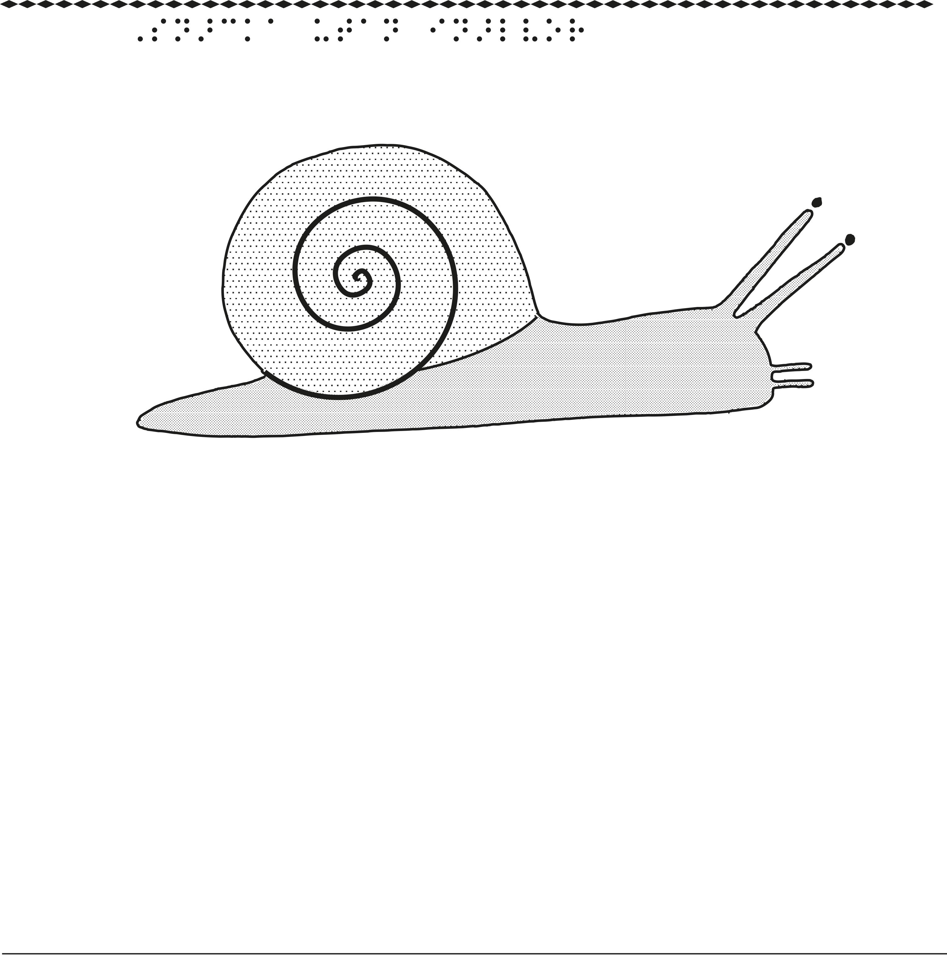 En taktil bild på en snigel.