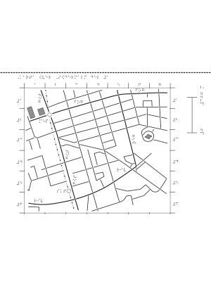 En förenklad karta över Södermalm i Stockholm.
