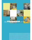 Kollage av bilder där elever använder Pictogram i olika sammanhang.