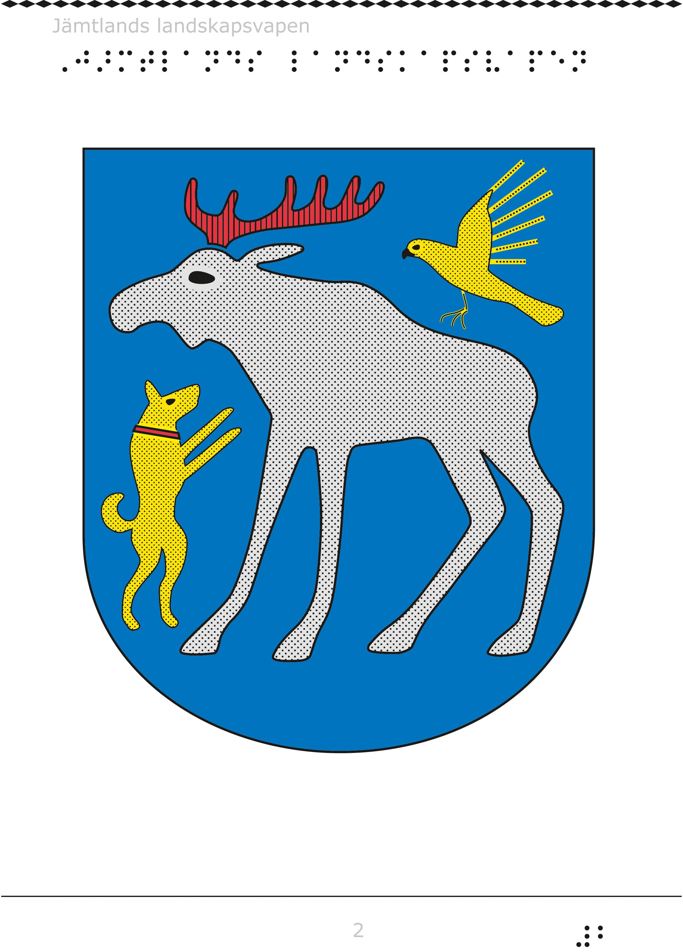 Jämtlands landskapsvapen.