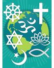 Olika religiösa symboler.