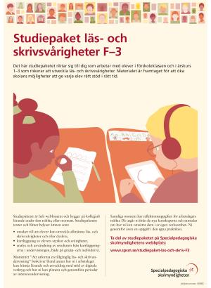 Framsida Studiepaket läs- och skrivsvårigheter F–3