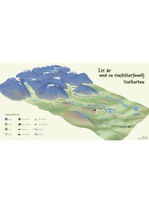 Karta över en fjällmiljö i isometriskt perspektiv.