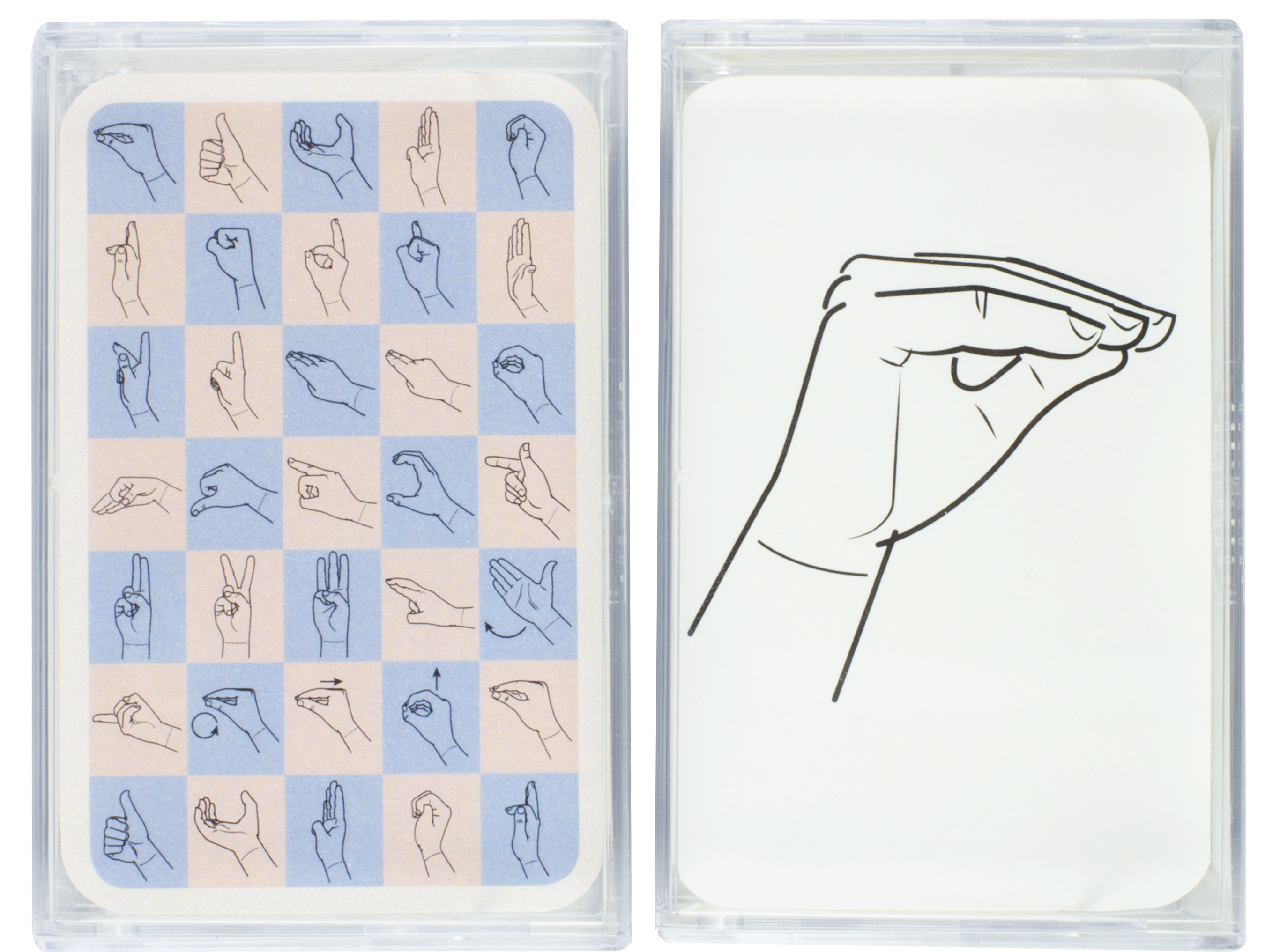 Kortlek teckenspråkets handalfabet.