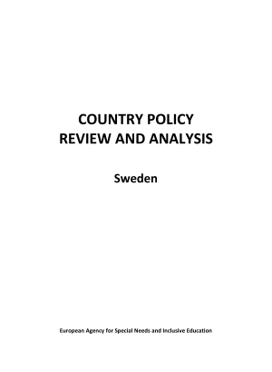 Country policy review and analysis.