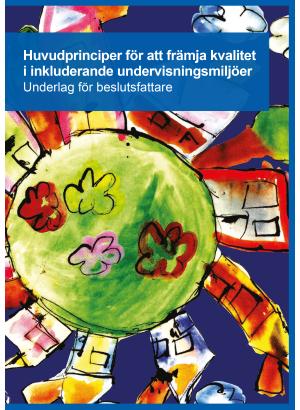 Framsida med färgglad illustration av jordklotet med hus och träd