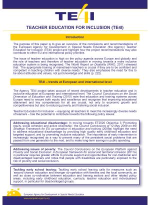 Framsida med massa text i blå,vit och gul