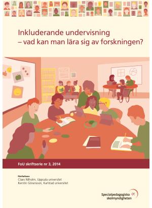 Illustrerade elever i ett klassrum
